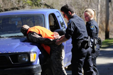 Arrestation d'un chasseur